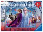 Puzzle 2×12 pièces – Reine des neiges 2, Voyage vers l'inconnu