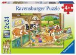 Puzzle 2×24 pièces – Le bonheur à la ferme