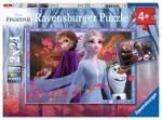 Puzzle 2×24 pièces – Reine des neiges 2, vers des contrées glacées