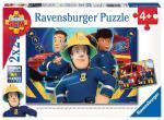 Puzzle 2×24 pièces – Sam le pompier, Sam t'aide dans le besoin