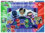 Puzzle 2×24 pièces – Pyjamasques, les Pyjamasques à la rescousse