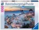 Puzzle 1000 pièces – Soirée à Santorin