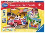 Puzzle 3×49 pièces – Tout le monde aime Mickey