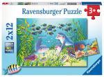 Puzzle 2×12 pièces – Au fond de l'océan