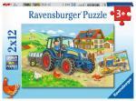 Puzzle 2×12 pièces – Chantier et ferme
