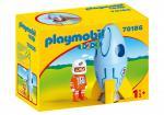 Playmobil 1 2 3 – Fusée et astronaute – 70186