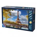 Puzzle 1000 pièces – Tour Eiffel, D-Toys
