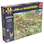 Puzzle 1000 pièces – Course de tondeuses