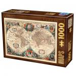 Puzzle 1000 pièces – Vintage Map