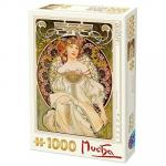 Puzzle 1000 pièces – Mucha, Reverie