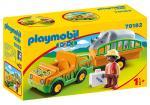 Playmobil 1 2 3 – Vétérinaire avec véhicule et rhinocéros – 70182