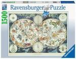 Puzzle 1500 pièces – Mappemonde des animaux fantastiques